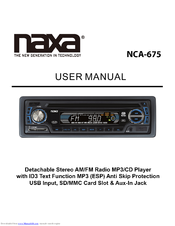 Naxa NCA-675 Manuals on