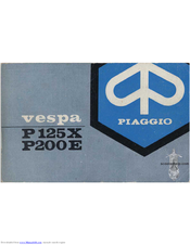 Piaggio Vespa P200E Manuals on