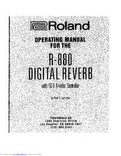 roland r 880 manuals rh manualslib com Roland VS-880 Roland JV-880