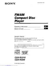 998780_cdxr30m_product sony cdx r3310 manuals wiring diagram for sony cdx r30m at n-0.co