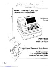 Royal cms-481 cms-486 user programming manual.