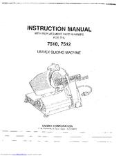 univex 7512 manuals rh manualslib com Univex Meat Slicer Univex Cheese Grater