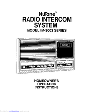 Nutone im 3003 series manuals nutone im 3003 series homeowners operating instructions cheapraybanclubmaster Image collections