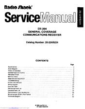 radio shack dx 394 manuals rh manualslib com radio shack service manual for 63-1023 radio shack dx-394 service manual
