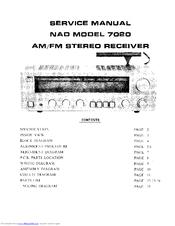 nad 7020 manuals rh manualslib com nad 7020e user manual Nad 7020E