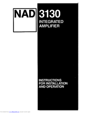 nad 3130 manuals rh manualslib com nad 3130 amp review nad 3130 stereo amplifier review