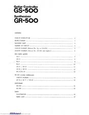 ROLAND GS-500 SERVICE MANUAL Pdf Download