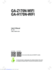 gigabyte ga z170n gaming 5 manuals rh manualslib com Owner's Manual gigabyte motherboard installation manual