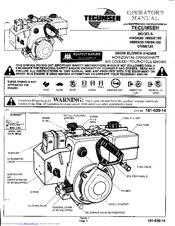 tecumseh snow king hmsk80 manuals rh manualslib com Snow King Engine Snow King Snow Blower Parts