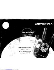 Motorola Talkabout T5522 Manuals