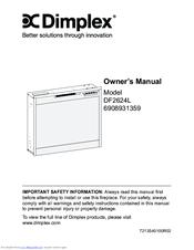 dimplex df2624l manuals