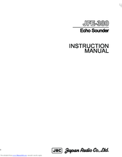 JRC JFE-380 - Instruction Manual