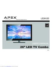 apex digital le2612d manuals rh manualslib com Disney Princess TV DVD Combo Apex 32 Inch Flat Screen