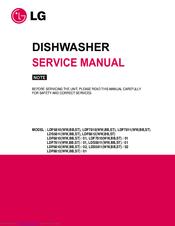 lg lds5811st 02 manuals rh manualslib com LG Dishwasher Service Manual LG Electronics Dishwasher User Manual