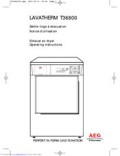 aeg lavatherm t36800 manuals rh manualslib com Operators Manual Owner's Manual