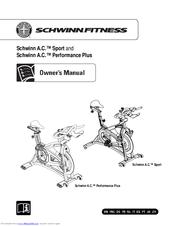 schwinn a c performance plus manuals rh manualslib com Schwinn AC Sport Bike Schwinn AC Performance Pedals