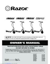 Razor E175 Owner's Manual