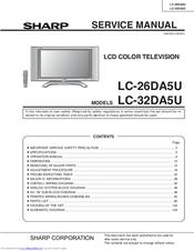 sharp lc32da5u lc 32 lcd tv manuals rh manualslib com