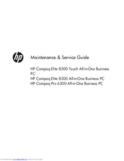 Hp compaq pro 6300 user manual