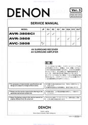 Denon avr-3808ci manuals.
