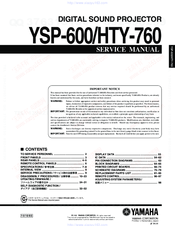 Yamaha HTY-760 Service Manual