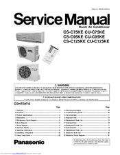 Panasonic CS-C75KE Service Manual
