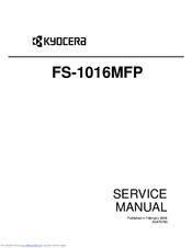 IMPRIMANTE FS-1016MFP TÉLÉCHARGER KYOCERA
