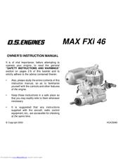 o s engine max fxi 46 manuals rh manualslib com os 90 engine manual os max 10 engine manual