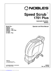 Part manuals for nobles speed scrub 2701 & 3301.