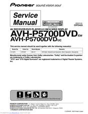 pioneer avhp5700dvd in dash 6 5 monitor dvd player manuals rh manualslib com Pioneer AVH P5700dvd Wiring Pioneer AVH P3200DVD Wiring-Diagram