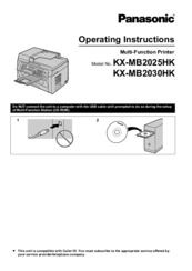 Panasonic KX-MB2025AL Multi-Function Station Device Monitor 64 BIT Driver