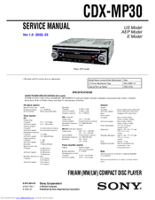 sony cdx mp30 manuals sony cdx mp30 service manual