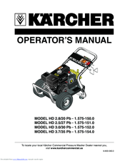 Kärcher HD 3.0/30 Pb-1.575-152.0 Operator's Manual