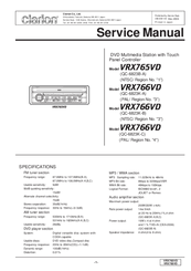 clarion vrx765vd manuals rh manualslib com Clarion VX 410 Wiring Harness Diagram Clarion VX 410 Wiring Harness Diagram