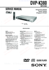 Sony RMT-D145E Service Manual