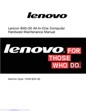 LENOVO B40–30 HARDWARE MAINTENANCE MANUAL Pdf Download