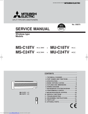 Mitsubishi Electric -E1WH Service Manual