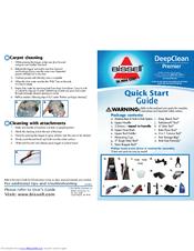 Bissell Deepclean Premier Manuals