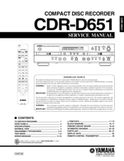 yamaha cdr d651 manuals rh manualslib com