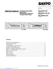 Sanyo FXD-780GD Service Manual