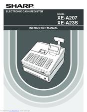 sharp xe a207 manuals rh manualslib com Cash Register Sharp XE a21s Problem Sharp XE a21s Programming