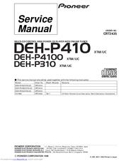 pioneer deh p410 manuals rh manualslib com Pioneer Deh 4400HD pioneer deh-p410 wiring diagram