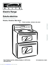 Kenmore Elite C970-600183 Use & Care Manual