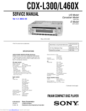 Sony cdx l300 installationconnection manuals we have 7 sony cdx l300 installationconnection manuals available for free pdf download service manual operating instructions manual owners record cheapraybanclubmaster Gallery