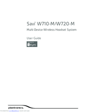 Plantronics Savi W720-M Manuals