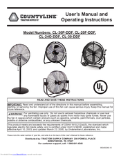 CountyLine CL-30-DDF User's Manual And Operating Instructions 12 Pages