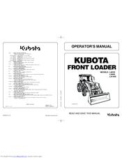 KUBOTA LA555 OPERATOR'S MANUAL Pdf Download