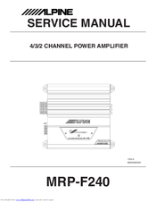 alpine mrp f240 manuals rh manualslib com Operators Manual User Manual