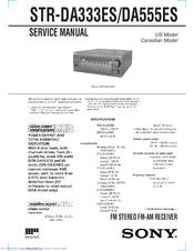Sony Str Da555es Fm Stereo Fm Am Receiver Manuals Manualslib