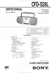 Sony CFD-S28L Service Manual